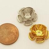 Bocciolo 19mm Metallo Filigrana Argento / Oro
