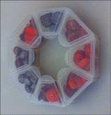 Kit Perle Vetro  Rosso