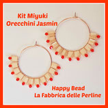 Kit Miyuki Jasmin Earrings Tan / Orange