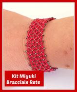 Kit Miyuki Net Bracelet Red / Gunmetal