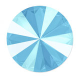 Rivoli Swarovski (1122) 12mm Shiny Lacquer Summer Blue