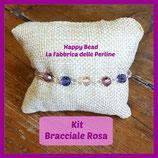Kit Bracciale Base Sfere Swarovski Rosa