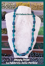 Kit Collana Base Cavetto Verde