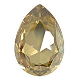Cabochon Goccia (4327) Swarovski  30x20mm Crystal Golden Shadow