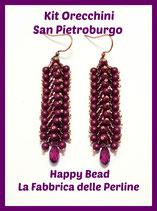 Miyuki Kit Double Saint Petersburg Earrings Big Version  Amethyst / Wine