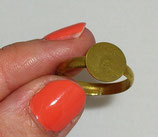 Supporto per Anello con Base Tonda 10mm oro