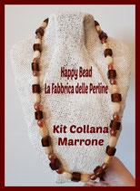Kit Collana Base Cavetto Marrone