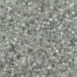 Delica 11/0 (DB271) Grigio Chiaro Silverlined Crystal Inside Color