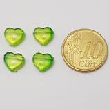 Cuore 9mm Verde Plastica