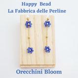 Kit Wire Orecchini e Bracciale Bloom versione Bluette