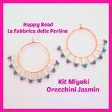 Kit Miyuki Jasmin Earrings Pink / Acqua Green