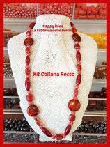 Kit Collana Base Cavetto Rosso