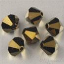 Swarovski Bead 5301/5328 - 4mm Bicono Crystal Dorado