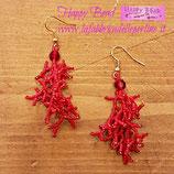 KIT Orecchini Coraling Colore Rosso