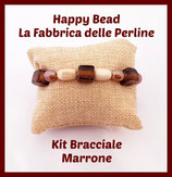 Kit Bracciale Base Cavetto Marrone