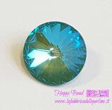 Rivoli Swarovski (1122) 14mm Crystal Silky Sage DeLite