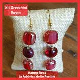 Kit Orecchini Base Rosso