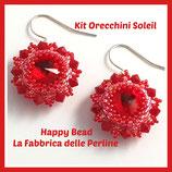 Kit Orecchini Soleil Punto Peyote Circolare Base Rosso