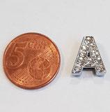Letter A Acciaio con Strass 13.5mm gancio passante