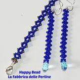 Kit Bracciale e Orecchini RAW Basic Blu