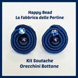 Kit Soutache Orecchini Bottone Ottanio