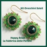 Kit Soleil Earrings Circular Peyote Stitch  Base Emerald