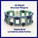 Kit Miyuki Braccaile Pitagora Verde metal / Blu China / Verde acqua