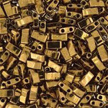 Half Tila Beads  (HTL457)2,5x5mm Bronzo Scuro Opaque Metallic