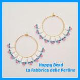 Kit Miyuki Jasmin Earrings White / Pink / Light Blue