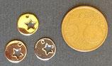 Ciondolo Metallo Tondo Stella 10mm
