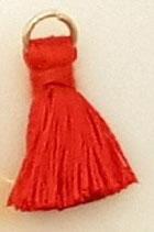 Nappina Mini 20mm Rosso con Anellino oro.