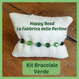 Kit Basic Bracelet with Round Swarovski Green