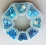 Kit Perle Vetro  Azzurro/ Blu