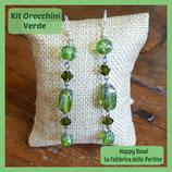 Kit Orecchini Base Verde