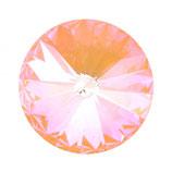 Rivoli Swarovski (1122) 12mm Crystal Peach DeLite
