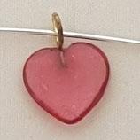 Ciondolo Cuore 11mm Rosa