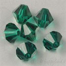 Swarovski Bead 5301/5328 - 6mm Bicono Emerald