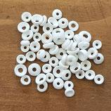 Conchiglie Scaglie Tonde Bianche Forate 5mm