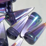 Spike Beads mis.7x17mm Viola AB