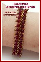 Kit Saint Petersburg Bracelet Stitch  Basic Big Version Bordeaux / Bronze
