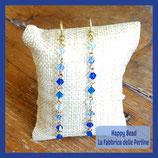 Kit Long Earrings with Bicones Swarovski Blue