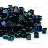 Square Beads mis.4x4x4 (SB452) Nero Metallico AB