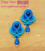 KIT Soutache Orecchini Lilith Pendenti Color Blu / Turchesi
