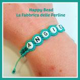 Kit Macramé Base Letter Bracelet Turquoise