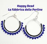 Kit Gypsy Earrings  Brick Stitch Basic Blue White Black