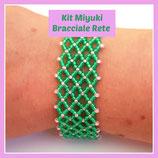 Kit Miyuki Net Bracelet Green / Pink