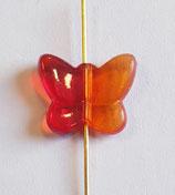 Farfalla Piccola 12x14mm Rosso  in Plexiglass