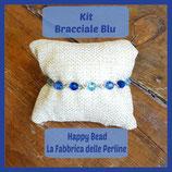 Kit Bracciale Base Sfere Swarovski Blu