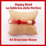 Kit Bracciale Base Cavetto Rosso Arancio