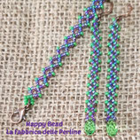 Kit Earrings and Bracelets RAW Basic Green Purple